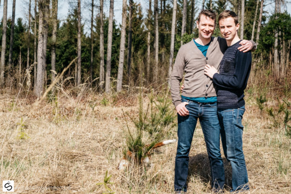 Pre-wedding fotoshoot in de Ardennen met Bob en Wim