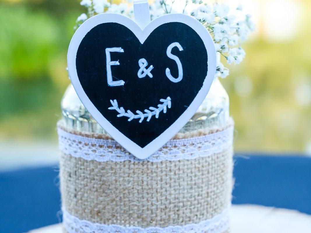 Details tijdens huwelijksfeest