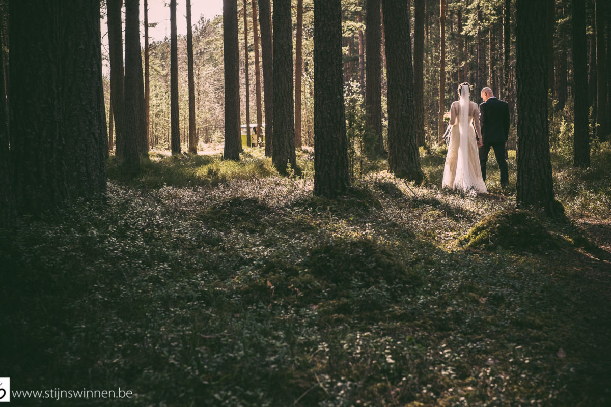 Ieva and Janis in the forest